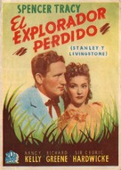 Stanley and Livingstone - Spanish Movie Poster (xs thumbnail)