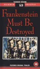Frankenstein Must Be Destroyed - British VHS cover (xs thumbnail)