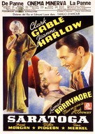 Saratoga - Belgian Movie Poster (xs thumbnail)