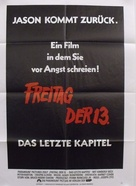 Friday the 13th: The Final Chapter - German Movie Poster (xs thumbnail)