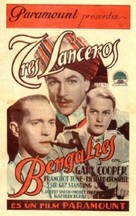 The Lives of a Bengal Lancer - Spanish Movie Poster (xs thumbnail)