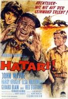 Hatari! - German Movie Poster (xs thumbnail)