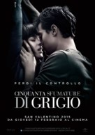 Fifty Shades of Grey - Italian Movie Poster (xs thumbnail)