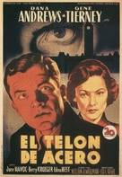 The Iron Curtain - Spanish Movie Poster (xs thumbnail)