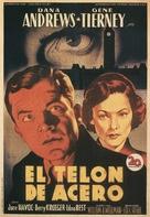 The Iron Curtain - Spanish Movie Poster (xs thumbnail)