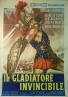Gladiatore invincibile, Il - Italian Movie Poster (xs thumbnail)