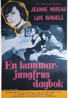 Le journal d'une femme de chambre - Swedish Movie Poster (xs thumbnail)