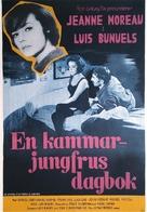 Le journal d'une femme de chambre - Swedish Movie Poster (xs thumbnail)