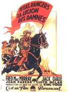 The Texas Rangers - French Movie Poster (xs thumbnail)