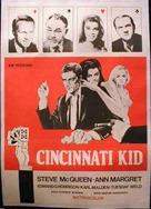 The Cincinnati Kid - Swedish Movie Poster (xs thumbnail)