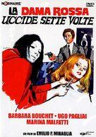 La dama rossa uccide sette volte - Italian DVD cover (xs thumbnail)