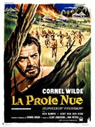 The Naked Prey - French Movie Poster (xs thumbnail)
