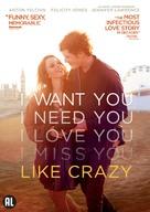 Like Crazy - Dutch DVD movie cover (xs thumbnail)