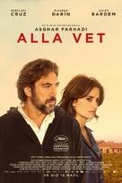 Todos lo saben - Swedish Movie Poster (xs thumbnail)