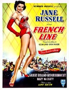 The French Line - Belgian Movie Poster (xs thumbnail)