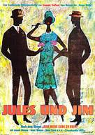 Jules Et Jim - German Movie Poster (xs thumbnail)