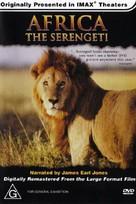 Africa: The Serengeti - Australian DVD movie cover (xs thumbnail)