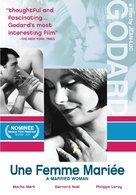Une femme mariée: Suite de fragments d'un film tourné en 1964 - French Movie Cover (xs thumbnail)