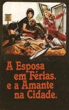 La moglie in vacanza... l'amante in città - Brazilian VHS movie cover (xs thumbnail)