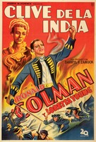 Clive of India - Argentinian Movie Poster (xs thumbnail)