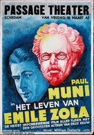 The Life of Emile Zola - Dutch Movie Poster (xs thumbnail)