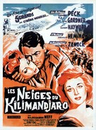The Snows of Kilimanjaro - French Movie Poster (xs thumbnail)