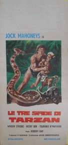 Tarzan's Three Challenges - Italian Movie Poster (xs thumbnail)