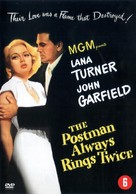 The Postman Always Rings Twice - Dutch DVD movie cover (xs thumbnail)