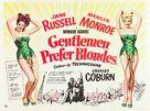 Gentlemen Prefer Blondes - British Movie Poster (xs thumbnail)
