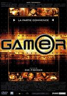 Gamer - French Movie Cover (xs thumbnail)
