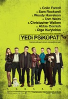 Seven Psychopaths - Turkish Movie Poster (xs thumbnail)