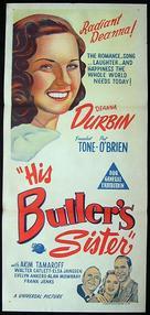 His Butler's Sister - Australian Movie Poster (xs thumbnail)