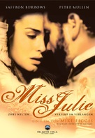 Miss Julie - German DVD cover (xs thumbnail)