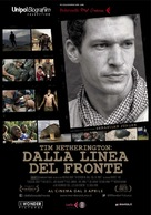 Which Way Is the Front Line from Here? The Life and Time of Tim Hetherington - Italian Movie Poster (xs thumbnail)