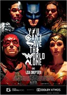 Justice League - Romanian Movie Poster (xs thumbnail)