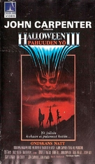 Halloween III: Season of the Witch - Finnish VHS movie cover (xs thumbnail)