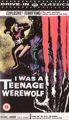 I Was a Teenage Werewolf - British VHS cover (xs thumbnail)