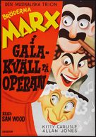 A Night at the Opera - Swedish Movie Poster (xs thumbnail)