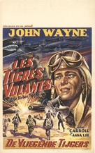 Flying Tigers - Belgian Movie Poster (xs thumbnail)