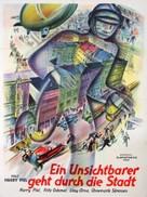 Ein Unsichtbarer geht durch die Stadt - German Movie Poster (xs thumbnail)