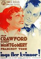 No More Ladies - Swedish Movie Poster (xs thumbnail)