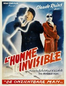 The Invisible Man - Belgian Movie Poster (xs thumbnail)