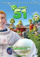 Planet 51 - Danish Movie Poster (xs thumbnail)
