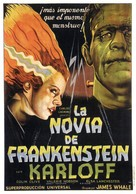 Bride of Frankenstein - Spanish Movie Poster (xs thumbnail)