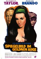 Reflections in a Golden Eye - German Movie Poster (xs thumbnail)