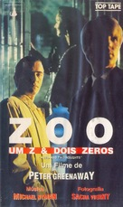 A Zed & Two Noughts - Brazilian VHS movie cover (xs thumbnail)