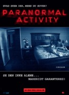 Paranormal Activity - Danish Movie Poster (xs thumbnail)