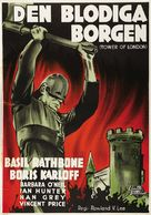 Tower of London - Swedish Movie Poster (xs thumbnail)