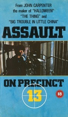 Assault on Precinct 13 - British VHS movie cover (xs thumbnail)