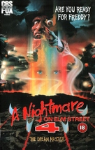 A Nightmare on Elm Street 4: The Dream Master - British VHS movie cover (xs thumbnail)